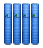 best dark wood flooring AMERIQUE 691322313741 800SQFT Wood, Bamboo & Laminate Flooring Underlayment Padding with Vapor Barrier 3-in-1, 2MM Thick, (800SF Total, Pack of 4 Rolls, 200SF/Roll), Royal Blue 800 Square Feet