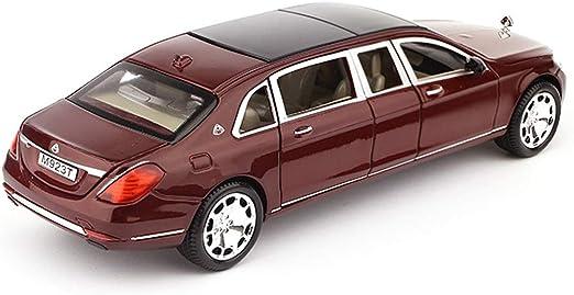 PENGJIE-Model 1:24 Mercedes-Benz Maybach Version /étendue du mod/èle de Voiture Simulation en Alliage de Voiture /à Six Portes Gar/çon Voiture de Jouet Couleur : Noir
