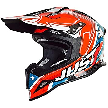 Casco Moto Cross Enduro Just One de carbono colorazione Aster America Extra Small