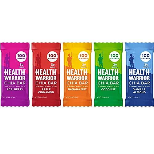 Health Warrior Chia Bars Best Seller Variety Pack, 15 Count