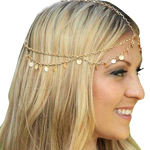 Missgrace HMetal Chain Jewelry Headband Head Hair