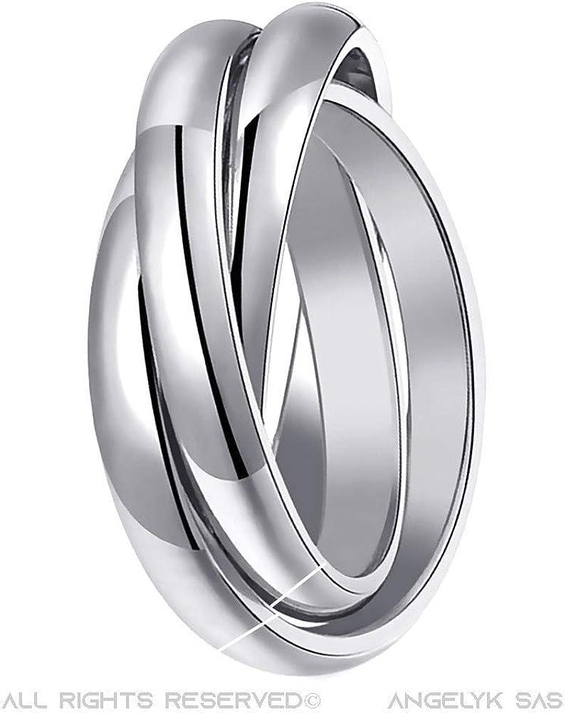 des bijoux mariage groupe alliance rangées doubles pierre l/'acier inoxydable