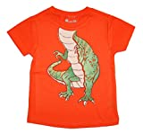 Peek-A-Zoo Toddler Become an Animal Short Sleeve T shirt - Tyrannosaurus Rex Orange (2T)