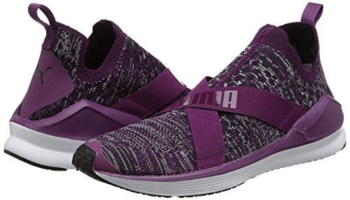 Evoknit Donna Puma Indoor Scarpe Purple Viola white dark Sportive Fierce TqxxZwHf