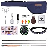 FISHINGSIR Fly Fishing Rod and Reel Combo for Trout Anglers Fly Fishing Outfit Complete Starter Full Kit Fly Fishing Rod and Reel Combo for Trout Anglers Fly Fishing Outfit Complete Starter