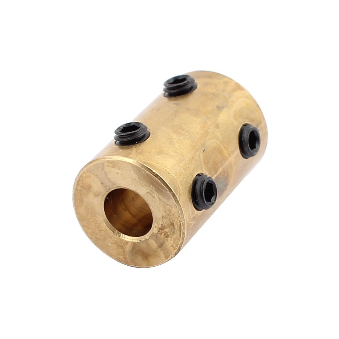 6mm to 8mm Brass Robot Motor Wheel Coupling Coupler with Tight Screws