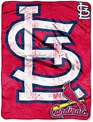 MLB St. Louis Cardinals Triple Play Micro Raschel Throw Blanket