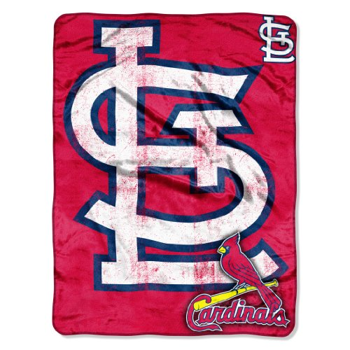 Louis St Blanket (Officially Licensed MLB St. Louis Cardinals Triple Play Micro Raschel Throw Blanket, 46