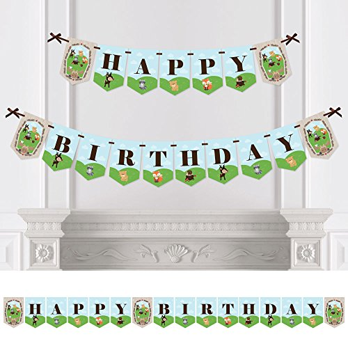 Woodland Creatures Birthday Bunting Decorations