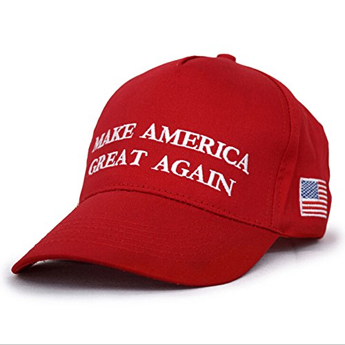Dutch Brook Adult Adjustable Baseball Cap Trump Make America Great Again (Red)