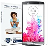 Tech Armor LG G3 Ballistic Glass Screen Protector, Premium Tempered Glass with 99.99% HD Clarity and Touch Accuracy, Clear [1-Pack]