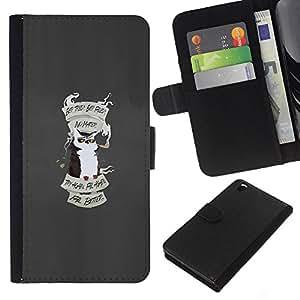 KLONGSHOP // Tirón de la caja Cartera de cuero con ranuras para tarjetas - Consejos Búho - HTC DESIRE 816 //