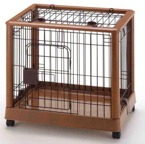 Richell Wood Mobile Pet Pen 640, Autumn Matte Finish (Designer Crates Pet)