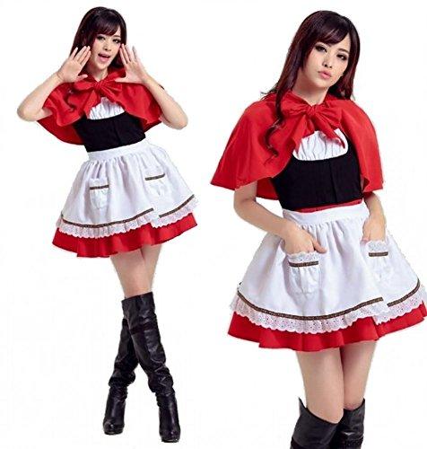 [JBC Little Red Riding Hood Costume Halloween Christmas Anime uniforms Cosplay] (Halloween Costume Little Red Riding Hood)