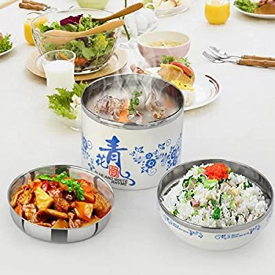 COFFLED Fashionable Bento Lunch Box,Portable Stainless Steel Food Storage Container for Super easy Carring,Perfect Bento Box with Super for Students and Children