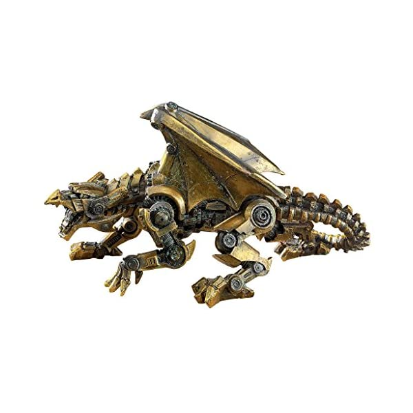 Design Toscano CL6610 Steampunk Gothic Gear Dragon Statue, Bronze 3