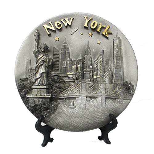 (Lisa NY New York Souvenir 3D Polyresin Plate 6 Inches Diameter)
