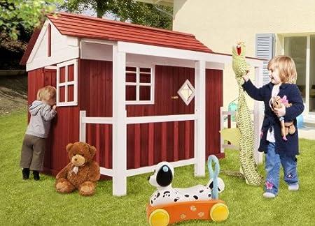Holz Kinder Spielhaus Ida Schwedenhaus Holzhaus Gartenhaus Haus