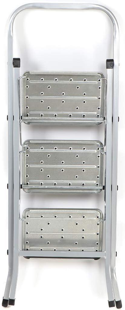Aluminium belastbar 150kg Stehleiter 3-stufig Klapptritt Stehleiter DOGLULAR