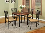 Kings-Brand-5-Pc-Set-Wood-Metal-Dining-Room-Kitchen-Set-Table-4-Chairs