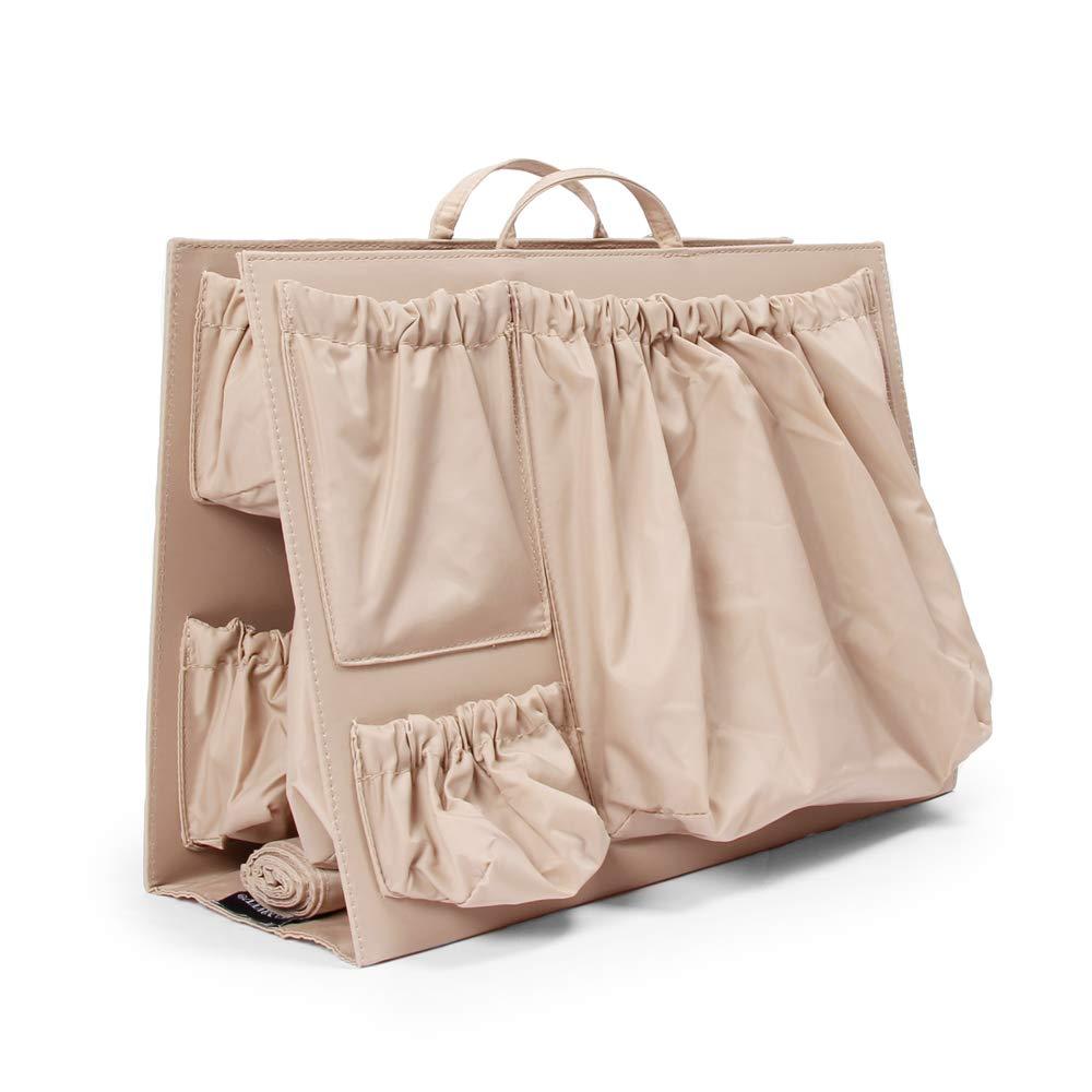 ToteSavvy Original 11-Pocket Diaper Bag Organizer Insert 14'' x 10'' (Original, Almond) by ToteSavvy