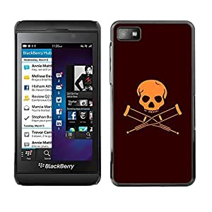 GagaDesign Phone Accessories: Hard Case Cover for Blackberry Z10 - Handicapped Skull Flag