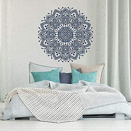 Tianpengyuanshuai Adesivi Murali Camera Da Letto Mandala Decorazione Camera Da Letto Marocchina Arte Murale Indiana Mandala Yoga 42x42cm Amazon It Casa E Cucina