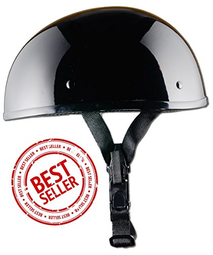 (CRAZY AL'S WORLDS SMALLEST DOT HELMET IN GLOSS BLACK WITH OUT VISOR SIZE MEDIUM)
