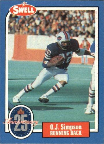 1988 Swell Greats Football Card #4 O.J. Simpson Mint