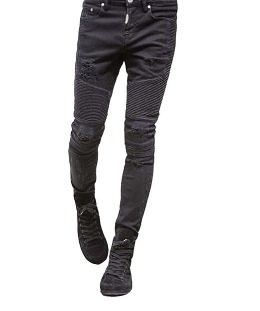 Nuovi Prodotti il più votato reale migliore selezione del 2019 Jeans aderenti strappati da uomo slim fit in jeans strappati ...