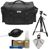 Nikon 5874 Digital SLR Camera System Case - Gadget Bag with Tripod + Kit for D3300, D3400, D5500, D5600, D7200, D7500, D610, D750, D810, D850, D5