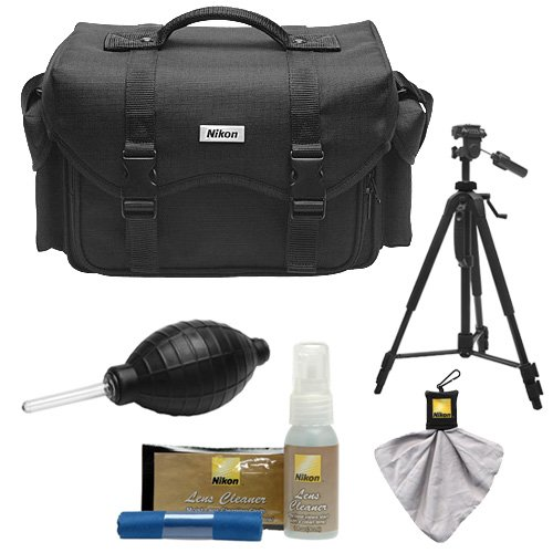 Nikon 5874 Digital SLR Camera System Case - Gadget Bag with Tripod + Kit for D3300, D3400, D5500, D5600, D7200, D7500, D610, D750, D810, D850, D5 by Nikon