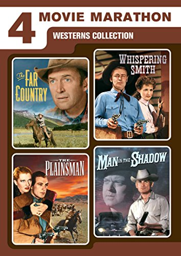 4 Movie Marathon: Westerns Collection (The Far Country / Whispering Smith / The Plainsman / Man in the - Collection Jean Arthur