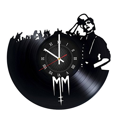 Marilyn Manson Vinyl Record Wall Clock - Best Music Gift - The Beautiful People - Awesome Rock Music Wall Decor