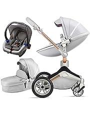Hot Mom Silla de paseo Reversibilidad rotación multifuncional de 360 grados con buggy asiento y capazo 2020 Nueva actualización