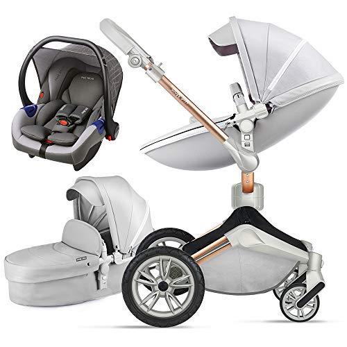 Hot Mom Silla de paseo Reversibilidad rotación multifuncional de 360 grados con buggy asiento y capazo 2020 Nueva…