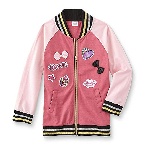 Happy Threads JoJo Siwa Girls Never Quit Varsity Jacket Medium Pink -