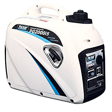 Pulsar PG2000iS 2000W Peak 1600W Rated Portable Gas Inverter Generator