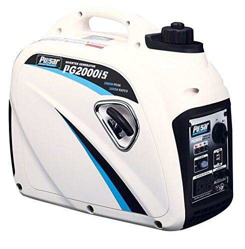 Cheap Pulsar 2,000W Portable Gas-Powered Quiet Inverter Generator with USB Outlet & Parallel Capability, CARB Compliant, PG2000iS