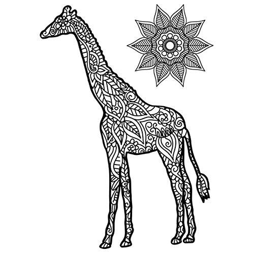 Creative Dies Die & Stamp Set Giraffe Set of 5 | Mehndi Collection
