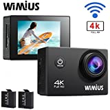Action Camera 4K WiFi Camera 16MP WIMIUS Q1 Ultra HD Sports Waterproof Camera Include Waterproof Case