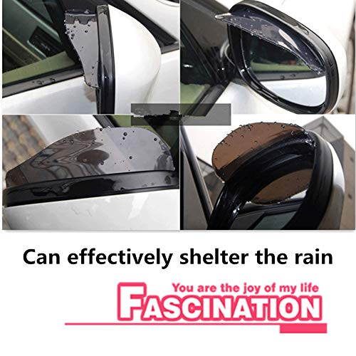 AoforzBrand Auto-Zubeh/ör R/ückspiegel Rain Shade Rainproof f/ür Renault Megane 2 3 Duster Logan Clio 4 3 Laguna 2 Sandero Scenic 2