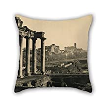 cushion cases 16 x 16 inches / 40 by 40 cm(both sides) nice choice for relatives,living room,christmas,indoor,her,pub oil painting Braun, Clément Co. (French, active 1877 - 1928) - The Roman Forum