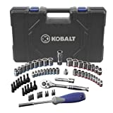 Kobalt 63 (SAE) Standard Piece Mechanic's Tool Set with Hard Case #0573339 by Kobalt