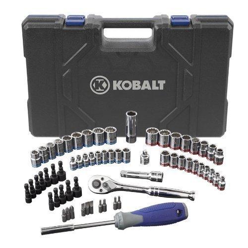 Kobalt 63 (SAE) Standard Piece Mechanic's Tool Set with Hard Case #0573339 by Kobalt
