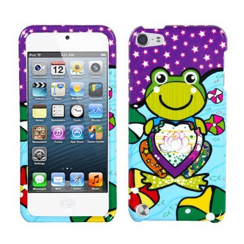 Frog Quilted (Snap on Cover Fits Apple iPod Touch 5 (5th Generation) Purple Lotus Frog (Please carefully check your device model to order the correct version.))