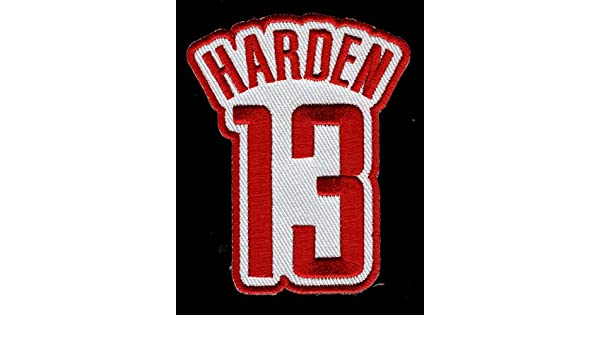 new style fb06a 5b401 James Harden No. 13 Patch - Jersey Number Basketball Sew or ...