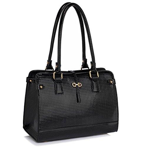 Black 50 FREE SAVE DELIVERY Handbag Grab Shoulder Gorgeous UK gx17wf