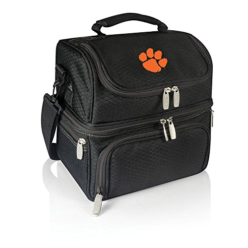 NCAA Clemson Tigers Pranzo Insulated Lunch Tote, Black