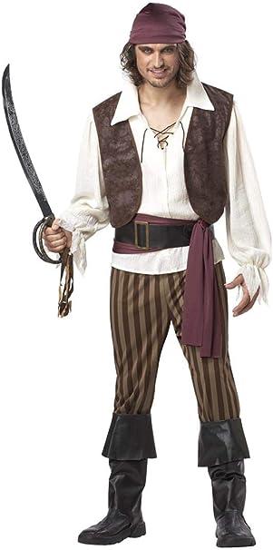 Mens - Disfraz de pirata del caribe para hombre, talla M (00827L ...